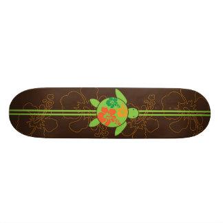Single Honu Hawaiian Hibiscus Skateboard