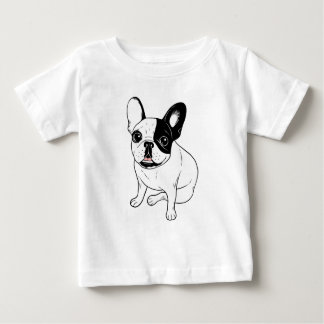 Single Hooded Brindle Pied Frenchie Baby T-Shirt