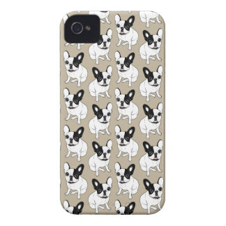 Single Hooded Brindle Pied Frenchie Case-Mate iPhone 4 Case