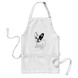 Single Hooded Brindle Pied Frenchie Standard Apron