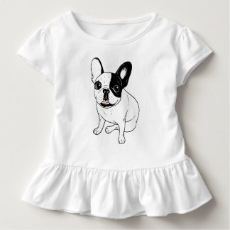 Single Hooded Brindle Pied Frenchie Toddler T-Shirt
