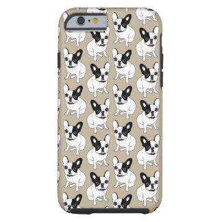 Single Hooded Brindle Pied Frenchie Tough iPhone 6 Case