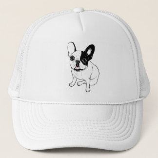 Single Hooded Brindle Pied Frenchie Trucker Hat