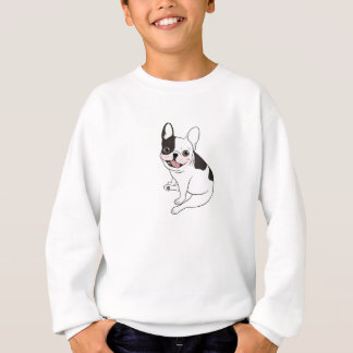 Single hooded pied Frenchie is excited for the pla Sweatshirt
