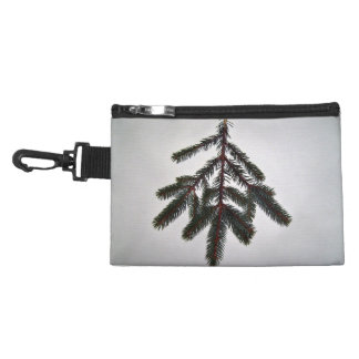 single isolated branch on white background accessory bag