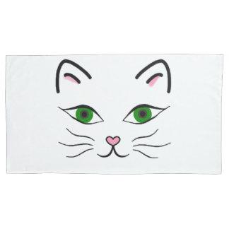 Single King Pillowcase - Kitty Face