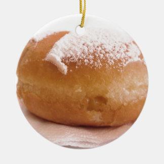 Single Krapfen ( italian doughnut ) Ceramic Ornament