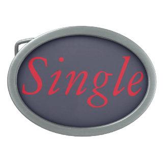 Single ladies oval belt buckles