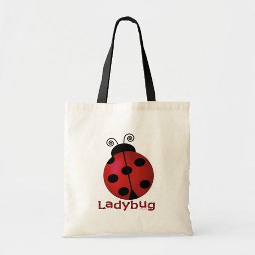 Single Ladybug Budget Tote Bag