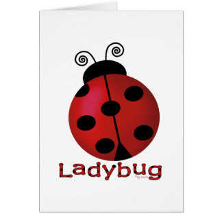 Single Ladybug Card