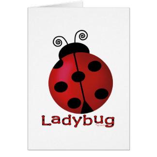 Single Ladybug Greeting Card