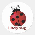 Single Ladybug Round Sticker