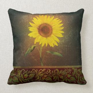 Single Large Sunflower Pillow