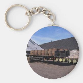 Single malt scotch distillery key chain