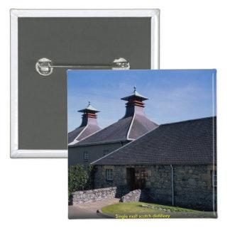 Single malt scotch distillery pinback button