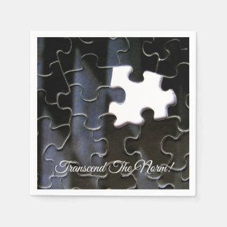 Single Missing Puzzle Piece Close-up Photograph Disposable Napkin