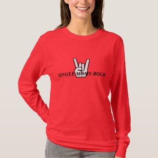 SINGLE MOMS ROCK, Red T-Shirt