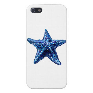 Single Navy Blue Starfish Case For The iPhone 5