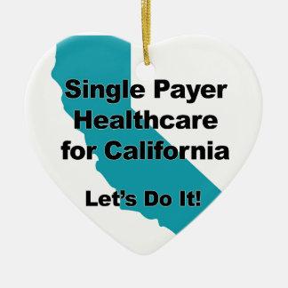 Single Payer Healthcare for California Ceramic Ornament