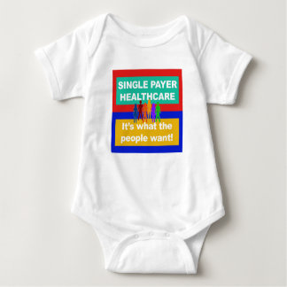 Single Payer Healthcare—It's What the People Want Baby Bodysuit