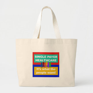 Single Payer Healthcare—It's What the People Want Large Tote Bag