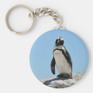 Single Penguin Photo Key Ring