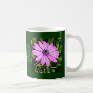 Single Pink African Daisy Against Green Foliage Coffee Mug