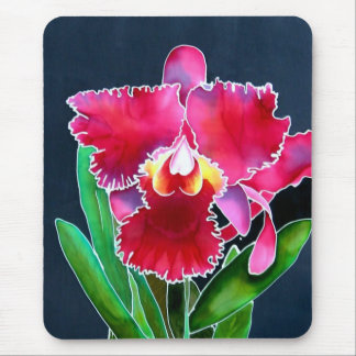 Single Pink Orchid Mouse Pad
