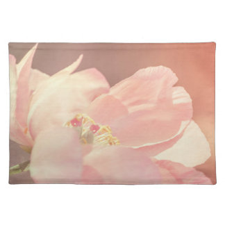 Single Pink Peony Flower Cotton Place Mat