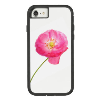 single pink poppy on a stem Case-Mate tough extreme iPhone 8/7 case