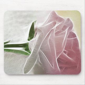 Single Pink Rose Basics Mouse Pad