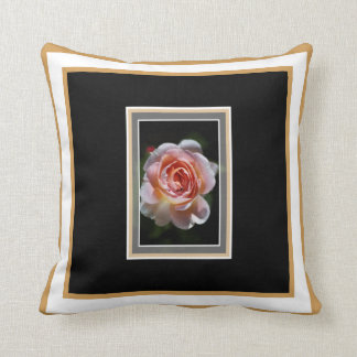 Single Pink Rose Pillow by bubbleblue