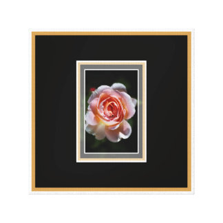 Single Pink Rose Wall Art by bubbleblue Stretched Canvas Prints