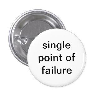 Single Point of Failure 3 Cm Round Badge