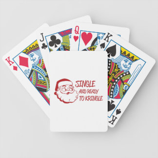 Single & Ready To Kringle Bicycle Playing Cards