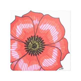 Single Red Flower Canvas Print