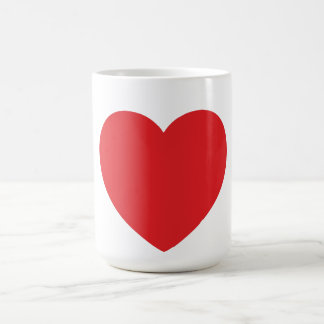 Single Red Heart Mug