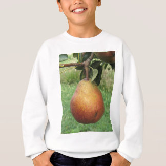 Single red pear hanging on the tree sweatshirt