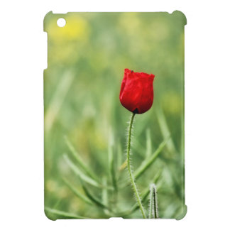 Single Red Poppy Cover For The iPad Mini