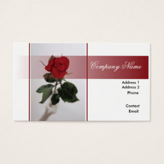 Single Red Rose Business Card
