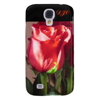 Single Red Rose by DJONeill Galaxy S4 Cases