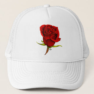 Single Red Rose Cap