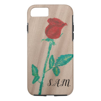 Single Red Rose iPhone 8/7 Case