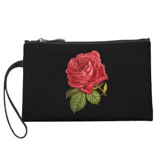 Single Red Rose Mini Clutch Wristlet Clutch
