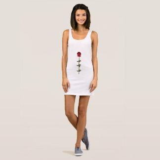 Single Red Rose Sleeveless Dress