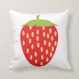 Single Red Strawberry Cushion