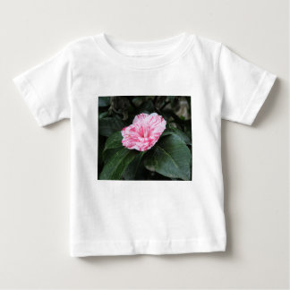 Single red streaked white flower Camellia japonica Baby T-Shirt