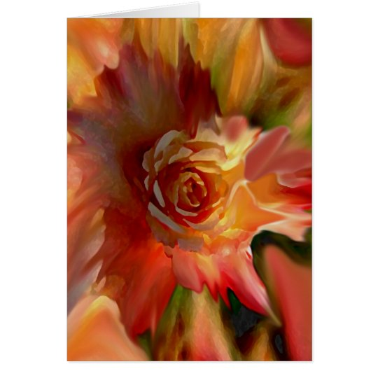 Single Rose Card