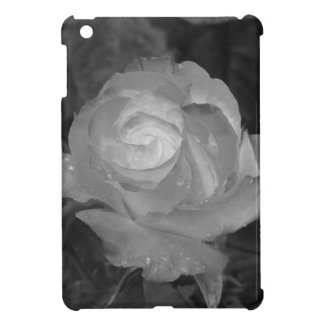 Single rose flower with water droplets in spring iPad mini case