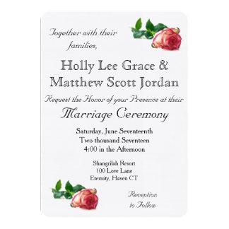 Single Rose Linen w/envelope - HAMbyWhiteGlove 13 Cm X 18 Cm Invitation Card
